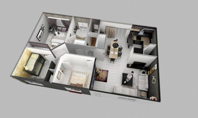 Two Bedroom Apartment More Like Half