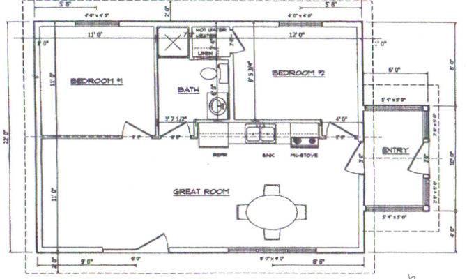Two Bedroom Cabin Floor Plan