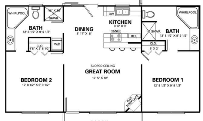 Two Bedroom Cottage Plans Marceladick