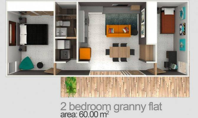 Two Bedroom Granny Flat Designs Plans Flats Sydney