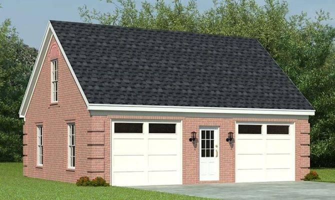 Two Car Garage Plans Loft Plan Split