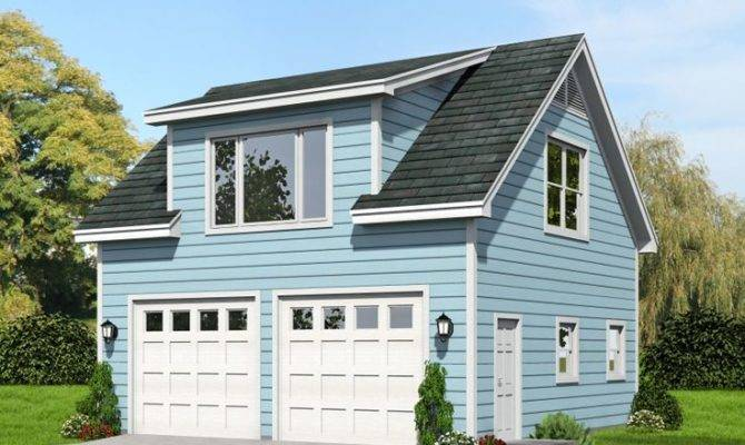 Two Car Garage Plans Loft Plan