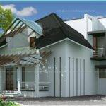 Two Faced Modern Estate Bungalow Indian House Plans