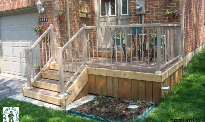 Two Level Back Deck Small Front Porch Doorway