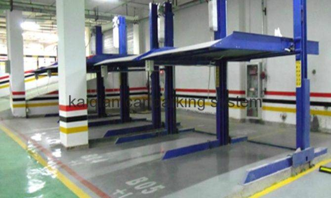 Two Level Post Car Parking System Auto Garage
