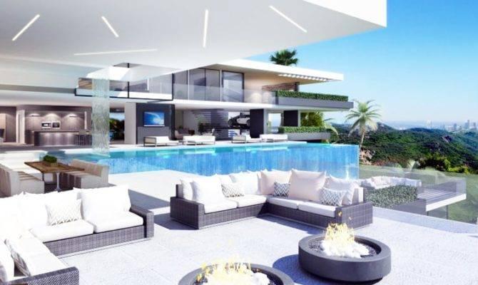 Two Luxury Ultramodern Mansions Sunset Plaza Drive