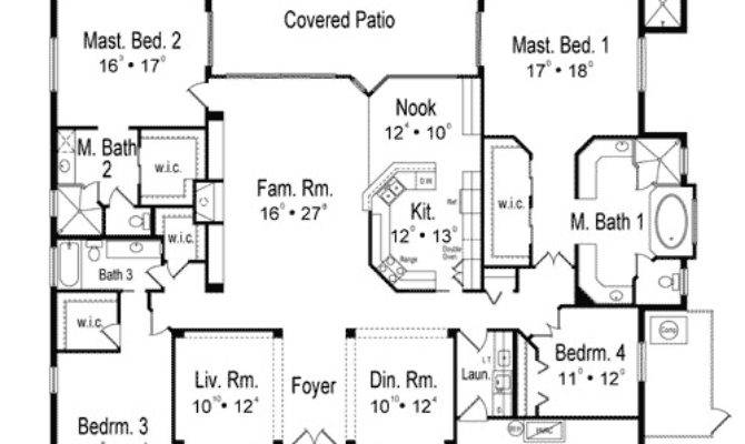 Two Master Bedrooms Architectural Designs