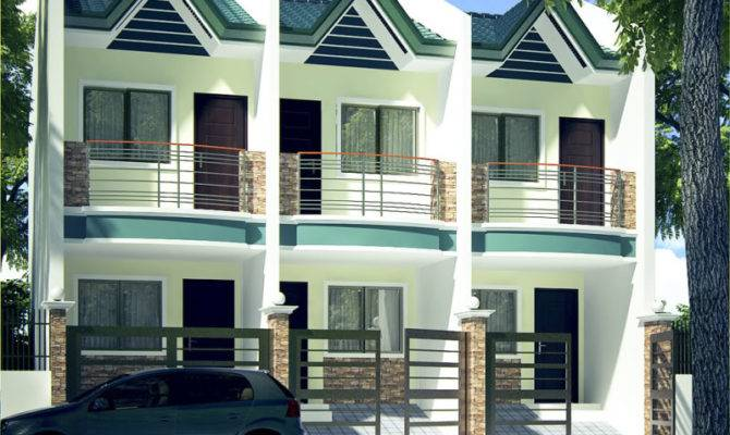 Two Storey Apartment Small House Plans Modern