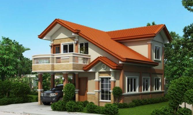 Two Storey House Plan Balcony Home Design