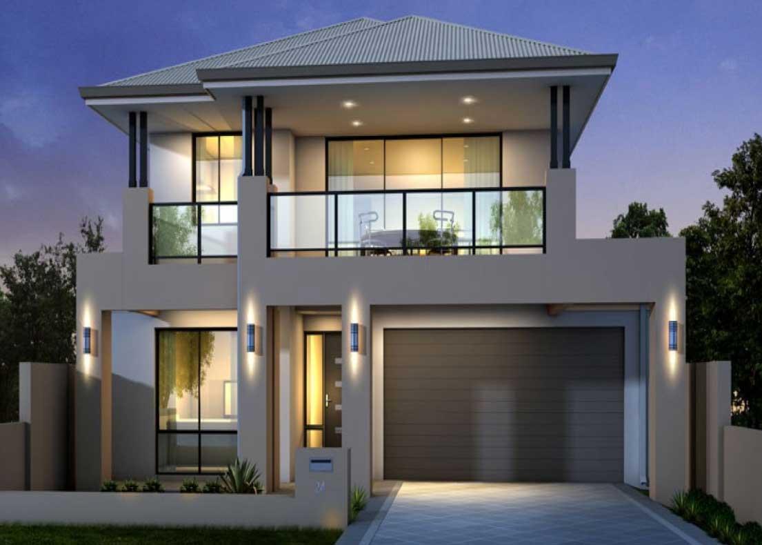 Two Storey House Plans Balcony Glass Railing