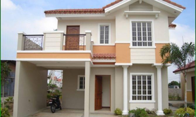 Two Storey House Plans Balcony Modern Plan