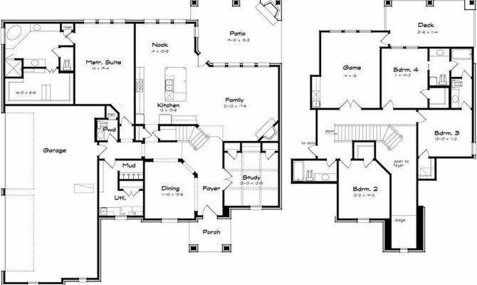 Two Storey House Plans Four Bedrooms