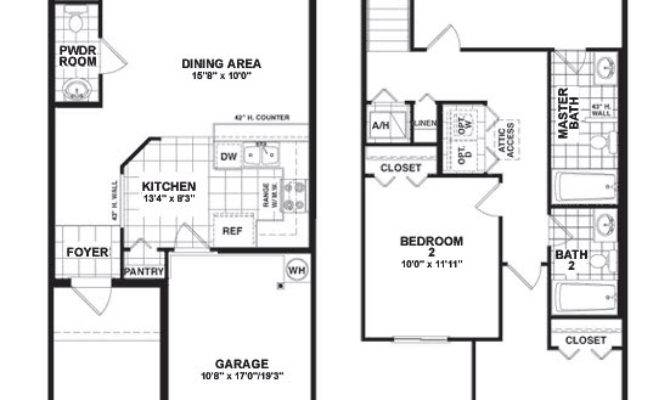 Two Storey Townhouse Plans