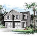 Two Story Apartment Garage Card Pleasant Residential Feel