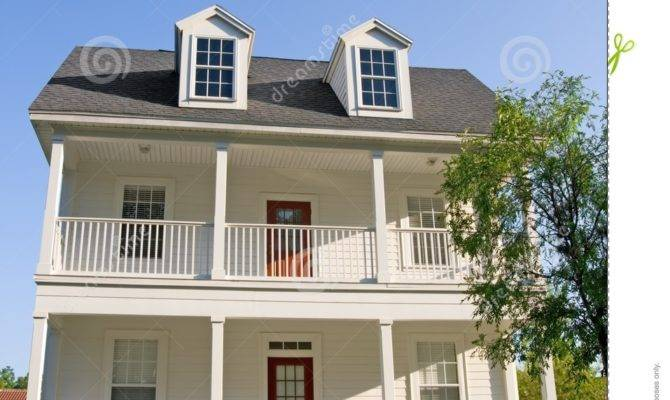 Two Story Balconies Exterior