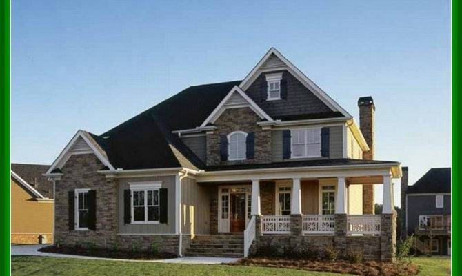 Two Story Brick House Plans Front Porch Arts Homes