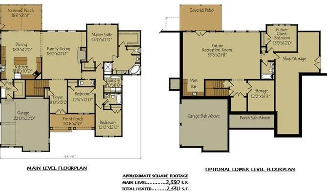 Two Story Cottage Lake House Plan Garage Optional
