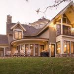 Two Story Custom New Home Stucco Stone Exterior Outdoor