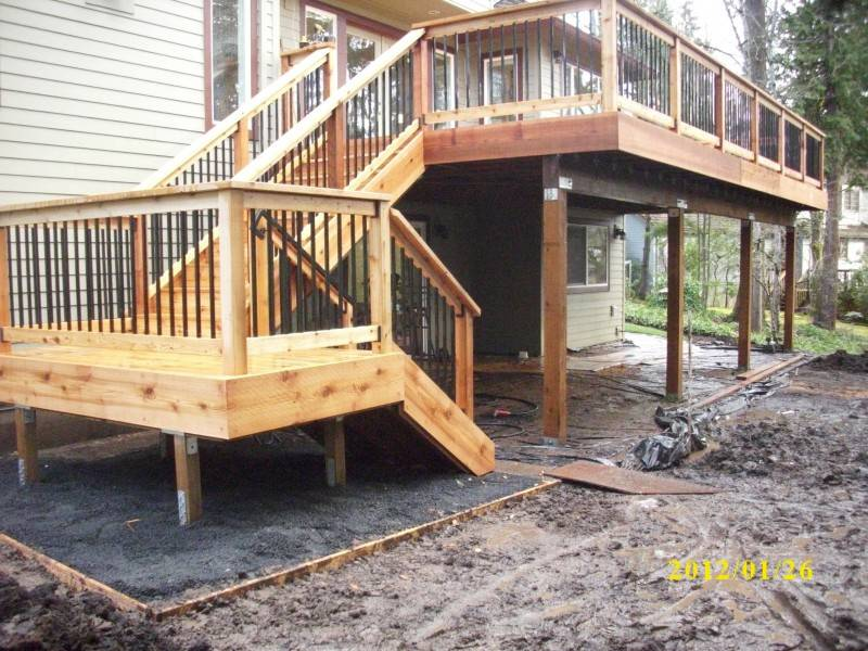Two Story Deck Designs Quotes Home