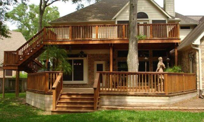 Two Story Deck Home Pinterest
