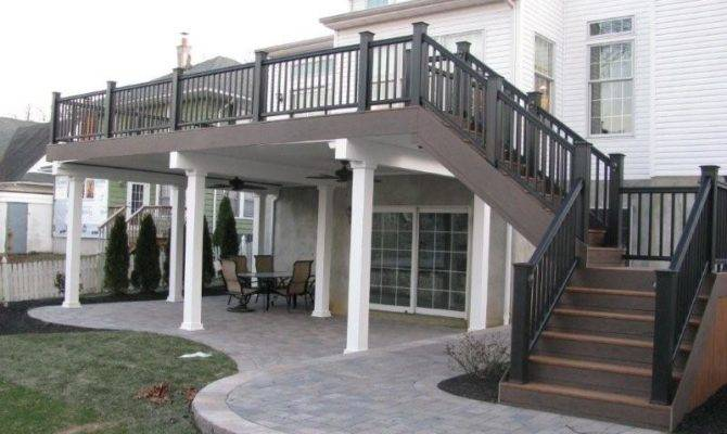 Two Story Deck Pinterest Second