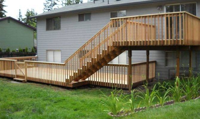 Two Story Decks Stairs Custom Sunset