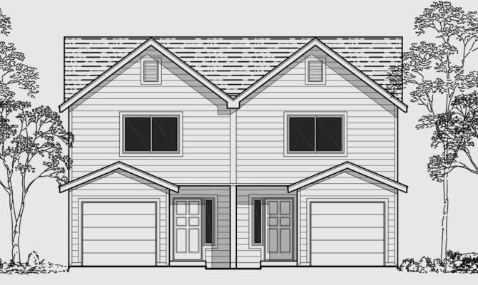 Two Story Duplex Home Plans Design Style