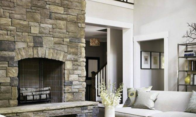 Two Story Fireplace Country Living Room Atlanta