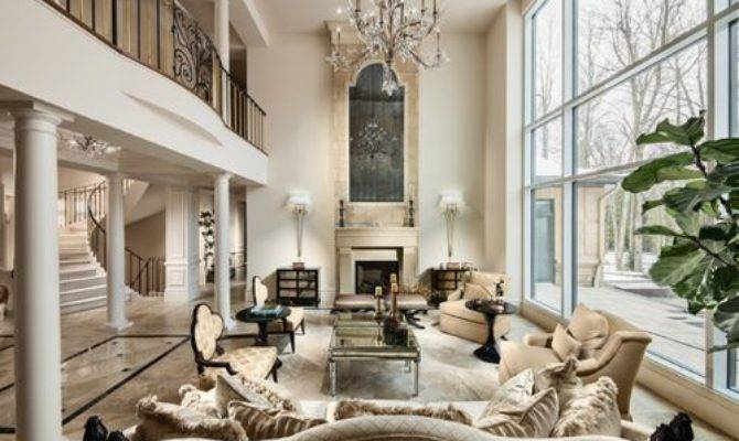 Two Story Fireplace Home Design Ideas Remodel