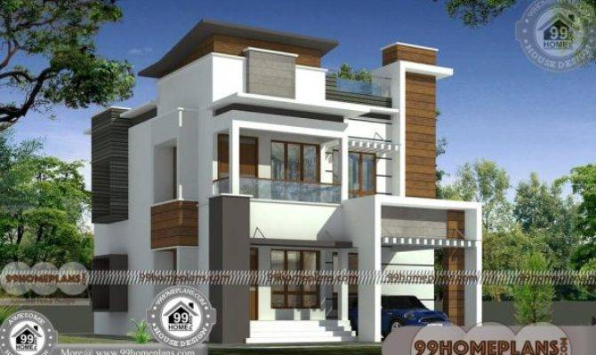 Two Story Homes Designs Elevations Narrow Block