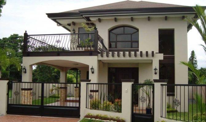 Two Story House Balcony Black Iron Railing
