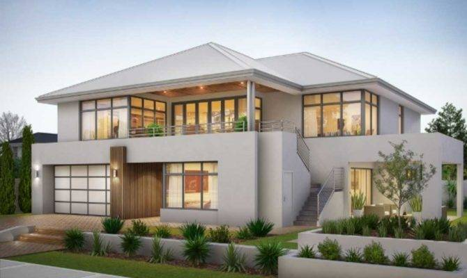 Two Story House Plans Balcony Design