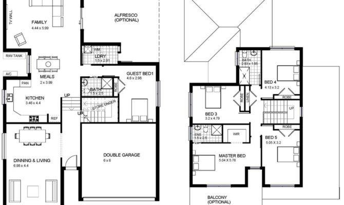 Two Story House Plans Balcony