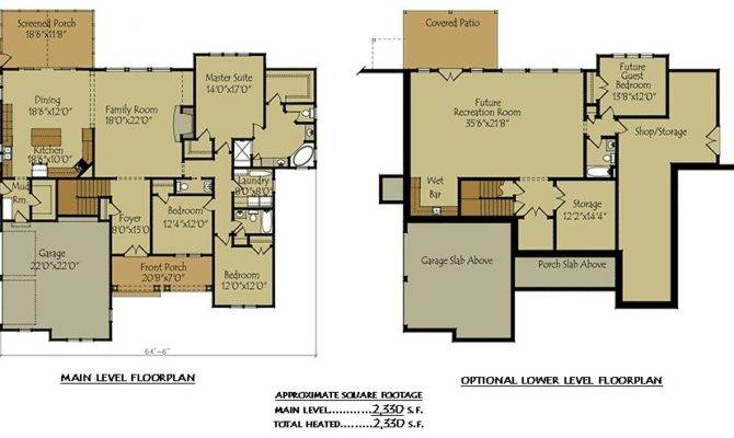 Two Story House Plans Basement Beautiful Front Chalet