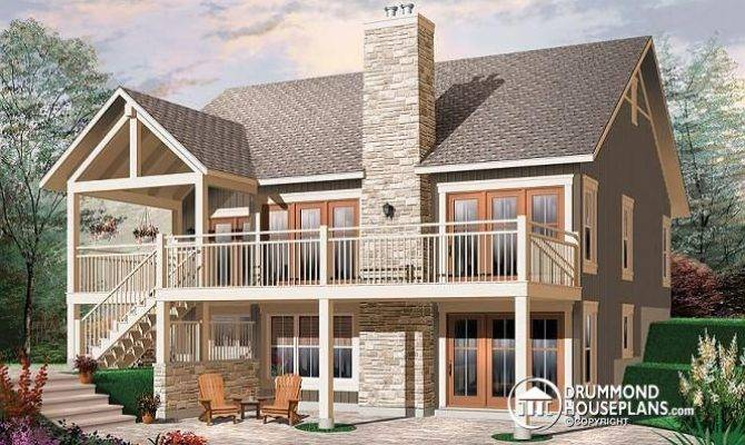 Two Story Walkout Basement Home Decorating Ideas Lakefront House
