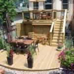 Two Tier Deck Backyard Ideas Pinterest