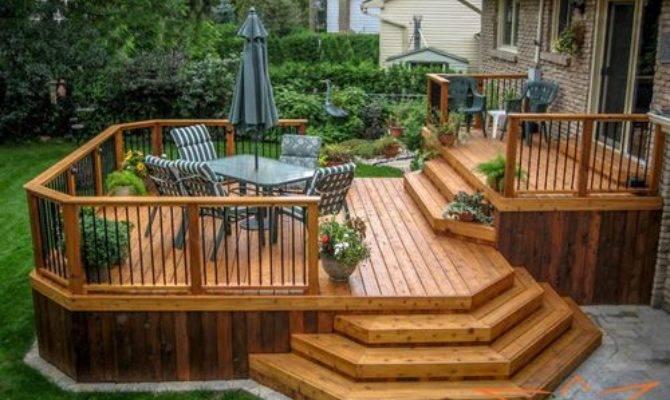Two Tier Deck Home Design Ideas Remodel Decor