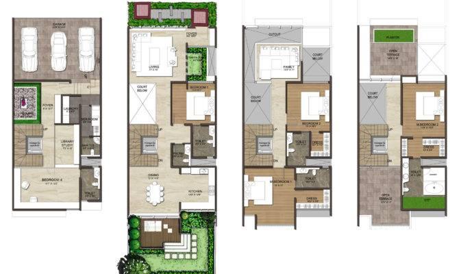 Typical Floor Plan Bhk Villa
