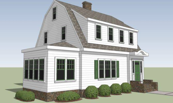 Typical Gambrel Has Dormer Further Gable Wall Just