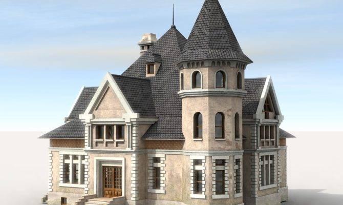 Typical Victorian Era European House Built Around
