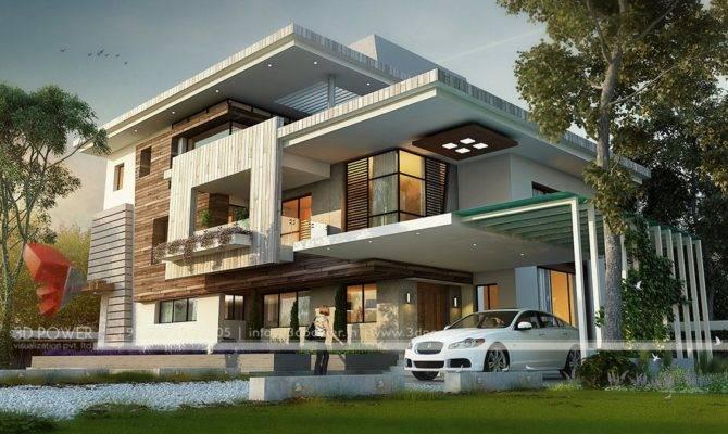Ultra Modern Home Design Bungalow Exterior Beauty