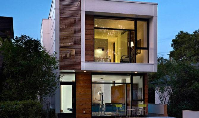 Ultra Narrow Affordable House Encourages Open Living