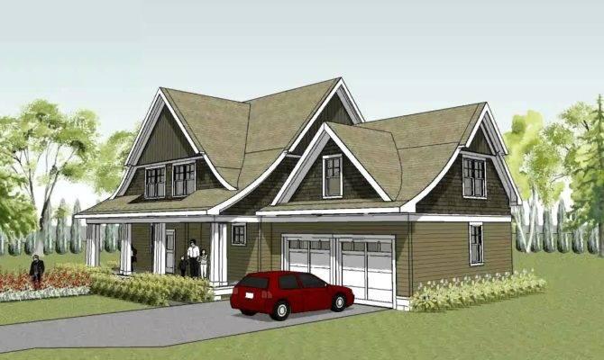 Unique Cape Cod House Plan Curved Roof Line Lake Elmo