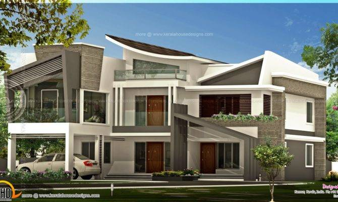 Unique Contemporary Luxury House Kerala Home Design Floor Plans