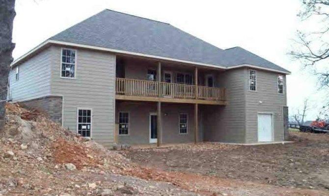 Unique Hillside House Plans Walkout Basement