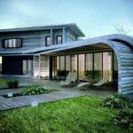 Unique House Architecture Design Wooden Material