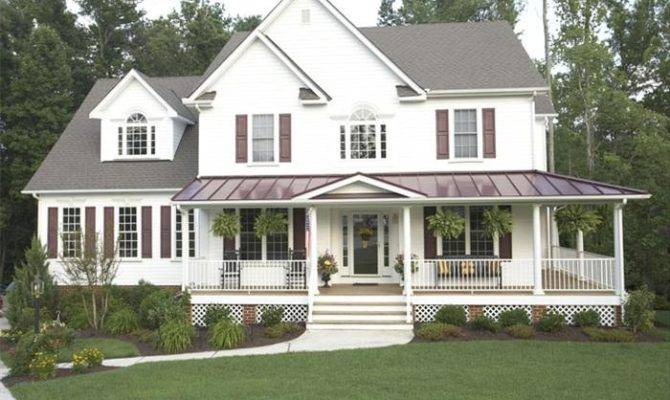 Unique House Plans Wrap Around Porch Country Style