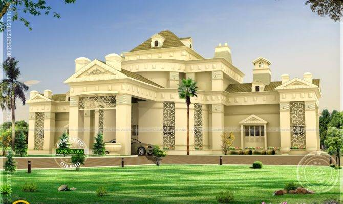Unique Super Luxury Home Kerala Design Floor Plans