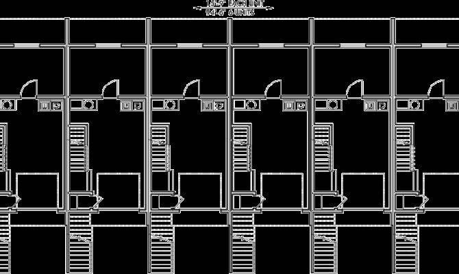 Unit Townhouse Plans Plex Double Master