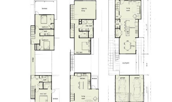 Urban Infill House Plans Story Bedroom